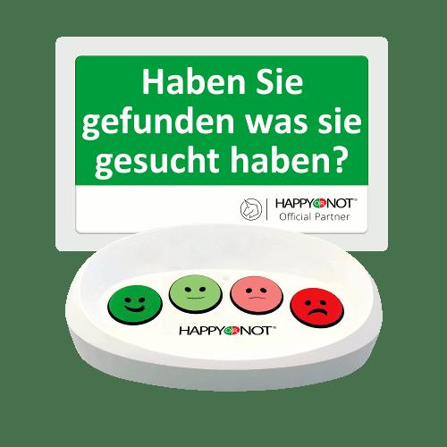 HappyOrNot Happy Or Not Smiley Terminal Gerät Buttons Haben Sie gefunden was Sie gesucht haben Kundenzufriedenheit Sortiment Umfrage Befragung