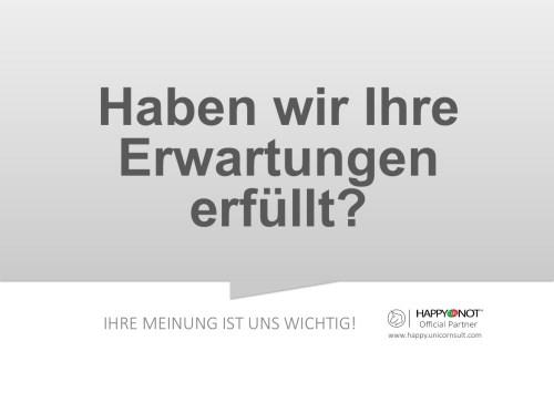 Haben wir Ihre Erwartungen erfuellt Happy Or Not HappyOrNot Smiley Terminal Question Sheet Frageblatt
