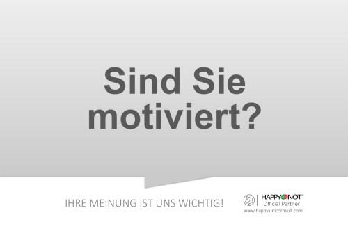 Sind Sie motiviert Happy Or Not HappyOrNot Smiley Terminal Question Sheet Frageblatt