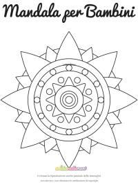 Disegno Mandala Rosa dei Venti #1 da colorare e da stampare