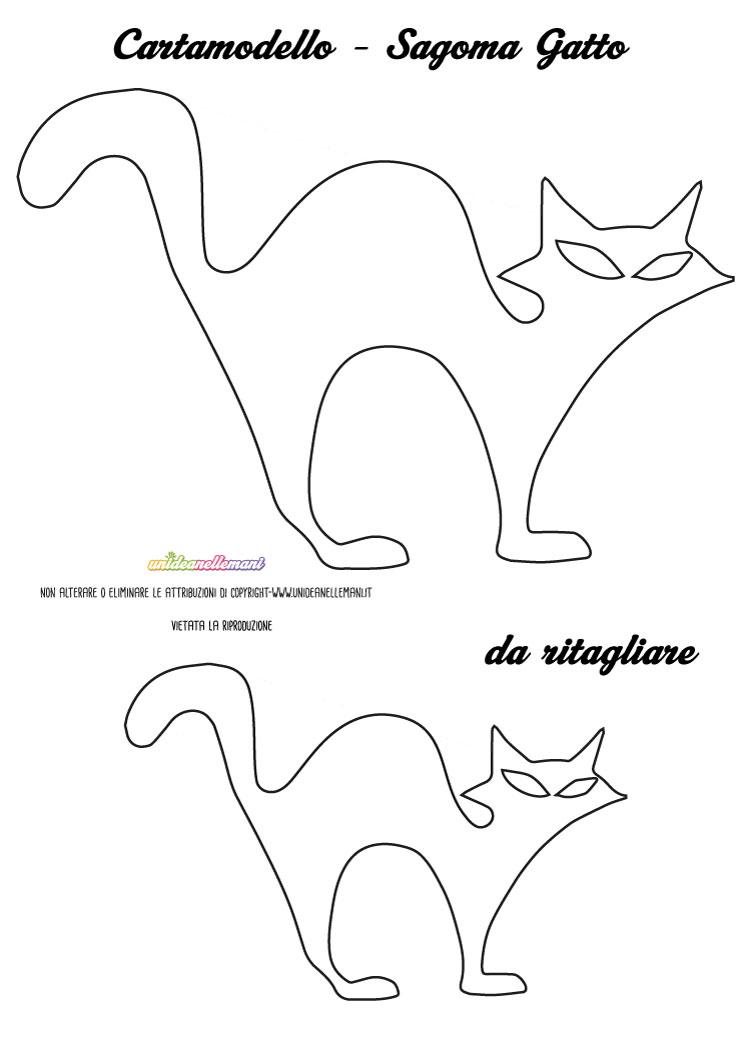 Sagome gatto da stampare, colorare e ritagliare