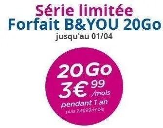 b-and-you forfait
