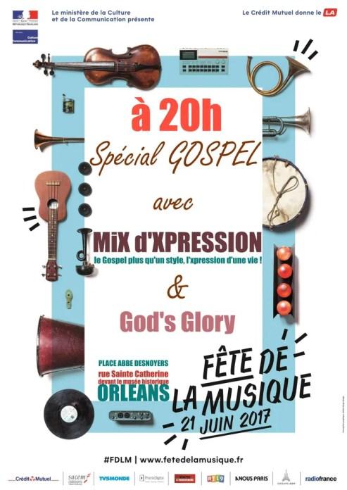 MiX d'XPRESSION et God's Glory Place Abbé Desnoyers Orléans
