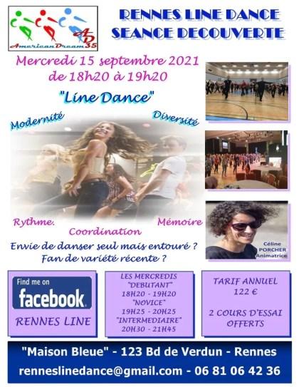 Rennes Line Dance Discovery Session Line Dance La Maison Bleue Rennes Wednesday 15 September 2021