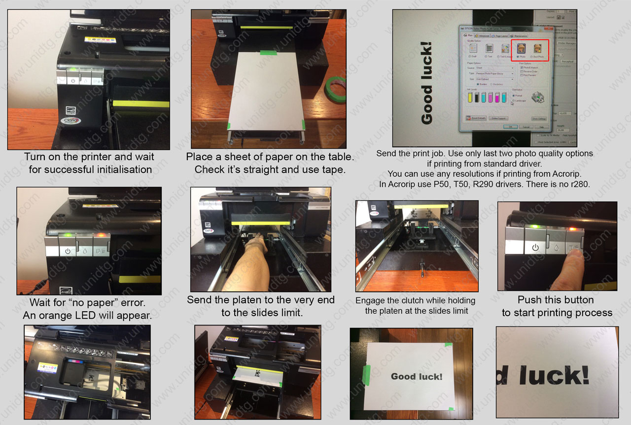 DIY DTG manual based on Epson R280