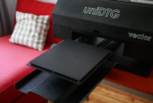 vector t-shirt printer - printing table
