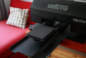 vector t-shirt printer - printing table
