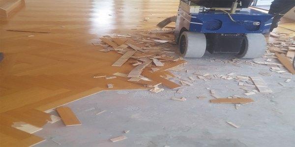 Parketvloer schade verwijderen