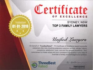 Sydney Family Lawyers Award