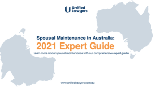 Spousal maintenance guide cover