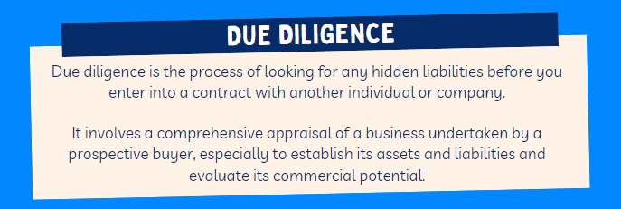 Due diligence buying business