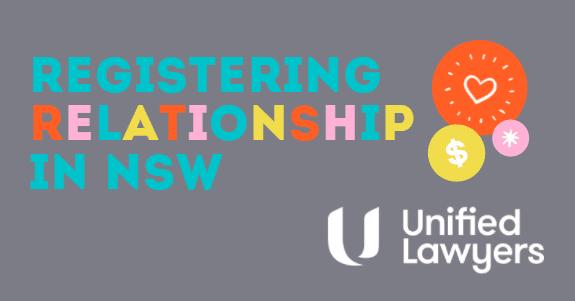 Registering Relationship in NSW