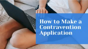 How to Make a Contravention Application cover photo