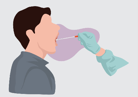 cartoon graphic of mouth swab for court-ordered paternity test