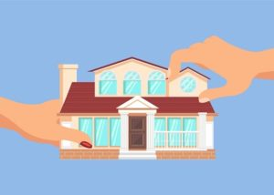 matrimonial home being divided by two hands
