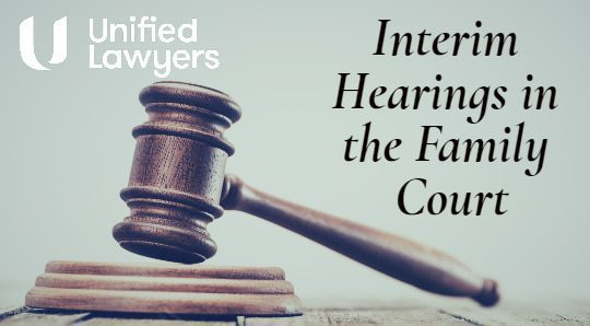 Interim hearings family court blog header image
