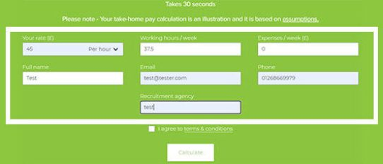 contractor take home pay calculator 2