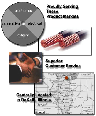 Unified Wire and Cable is your source for insulated lead wire. Located in DeKalb, IL, we manufacture a broad range of wire and cable for the electronics, electrical, automotive, and military markets. To enable us to be more fully integrated, Unified now has copper fabrication capabilities. Beginning with copper rod we draw, bunch and insulate to various outside and customer specifications.