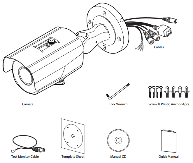 How to install HD IP IR bullet camera?