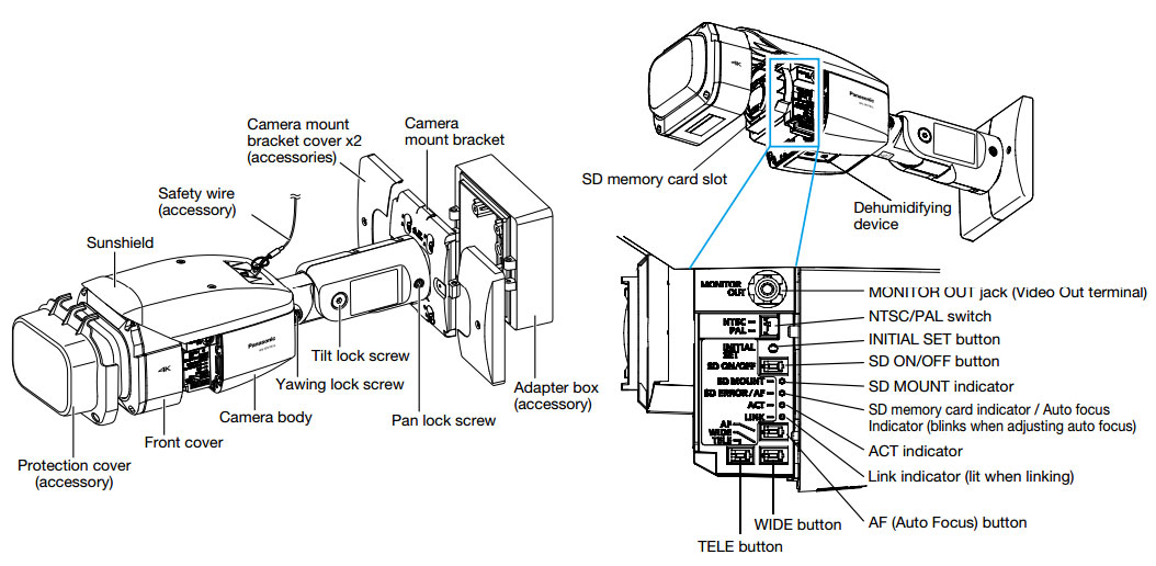 4K network vandal-resistant IR security camera WV-SPV781L