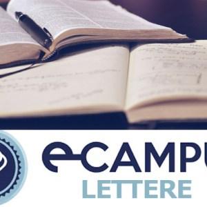corso di laurea in lettere ecampus