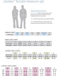 Sizing chart also jockey men   pull on scrub top stretch uniformsandscrubs rh