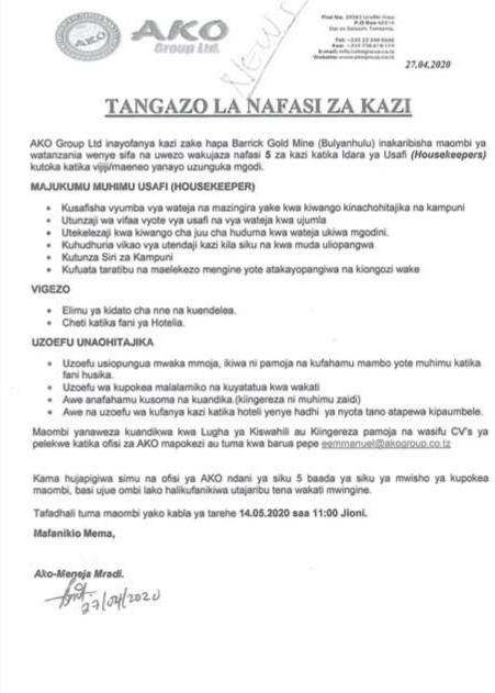 Ako group 5 Job Vacancies