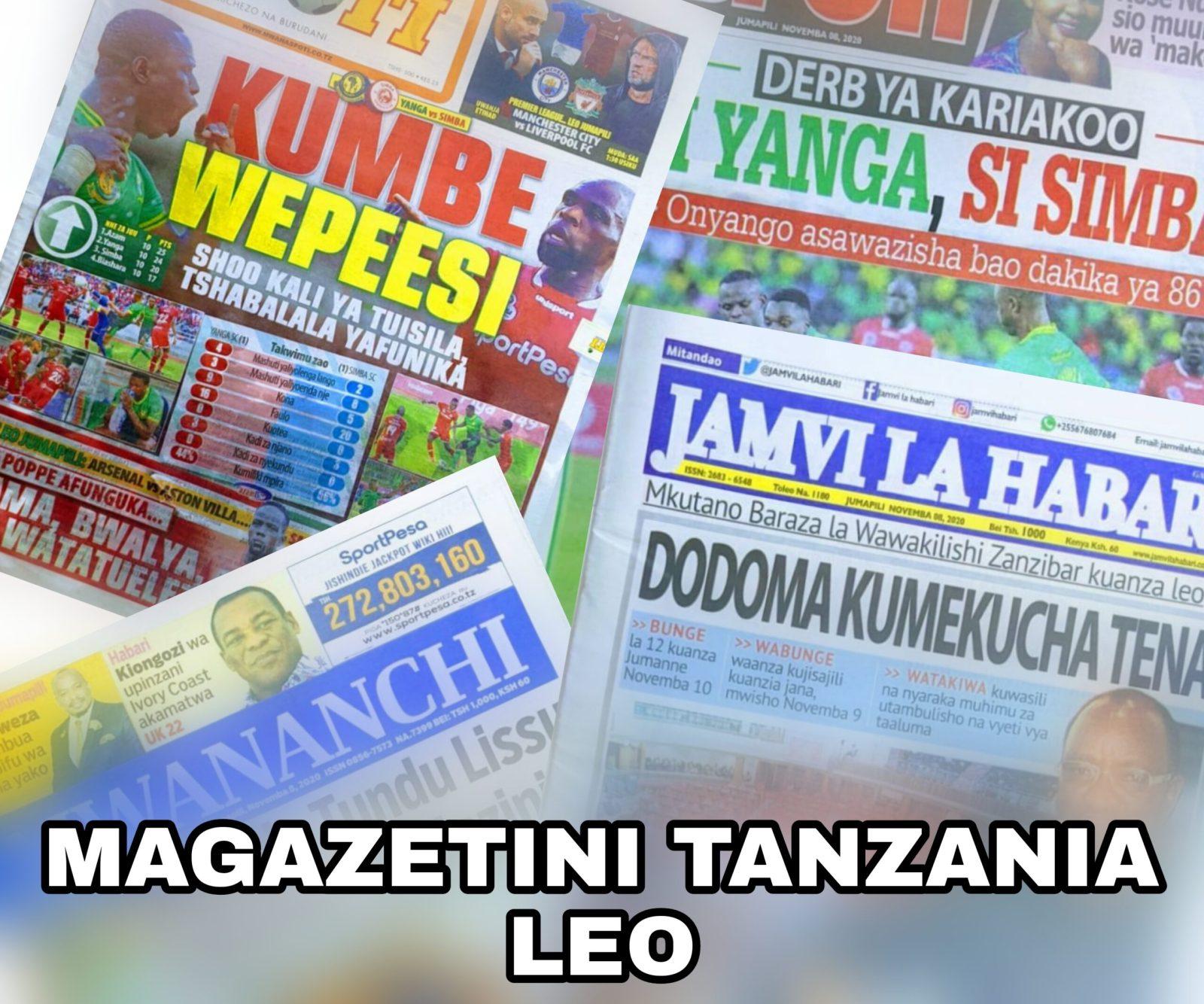 Magazeti Ya Leo Tanzania 2020   Headlines Of Newspaper