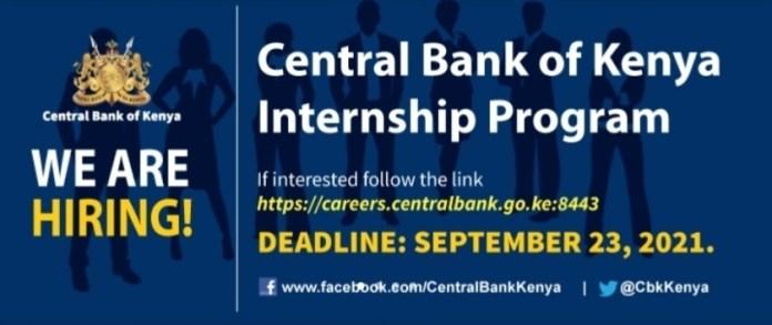 Central Bank of Kenya Internship Program 2021/2022