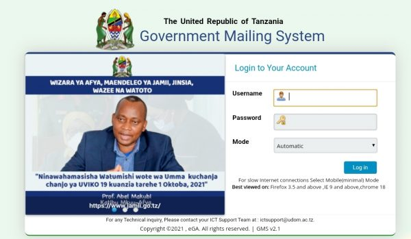 UDOM Government Mailing System