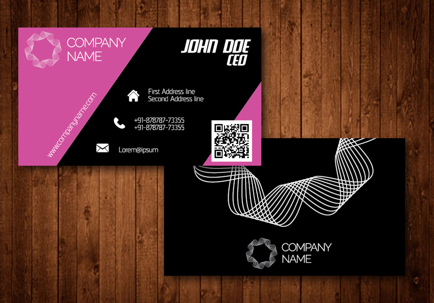 Design your Professional business card within 24 Hours