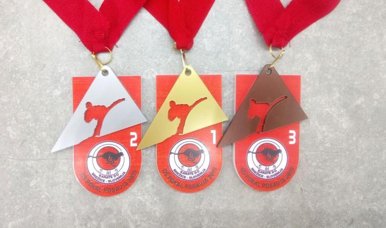 Unikatne medalje za Karate klub Panter