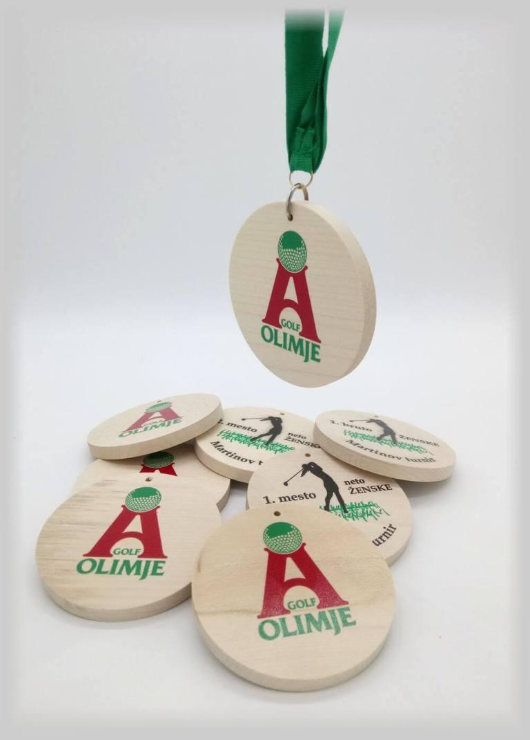 Lesene medalje za Golf klub Olimje