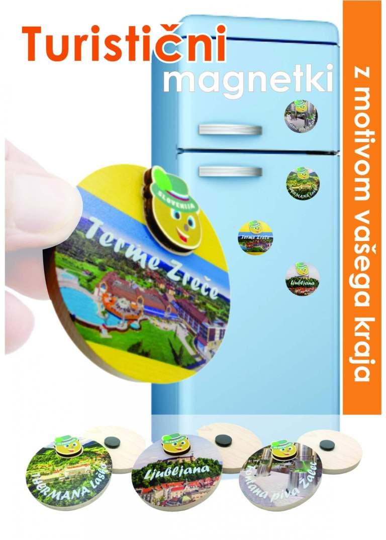 Turistični magnetki z motivom po želji.