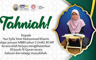 RCMP Student Nur Syifa' Scores A First!