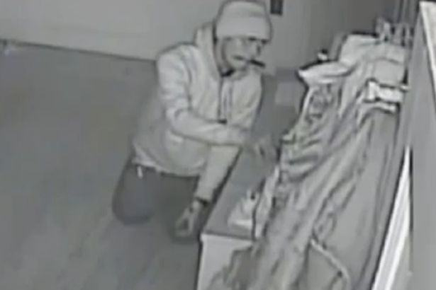 Creepy Footage Shows Burglar Crawl Round House With Knife