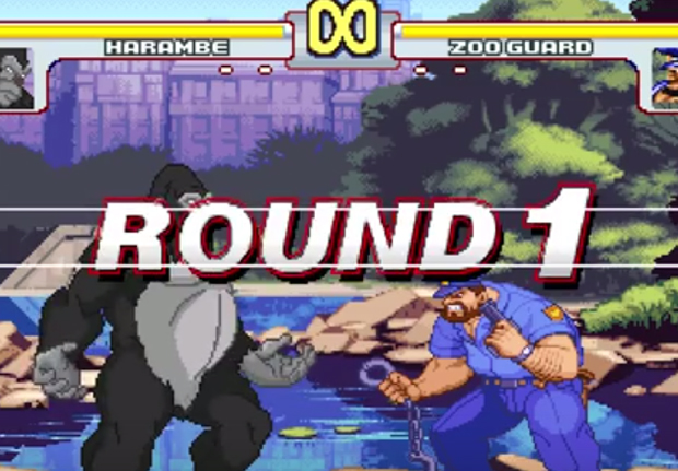 Remembering Harambe One Year After His Death HarambeStreetFighterWEB