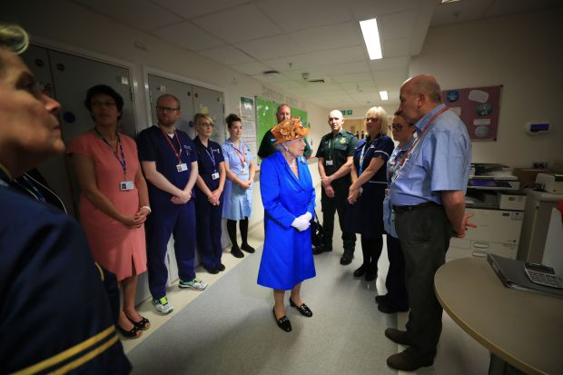 The Queen Visits Manchester Terror Attack Victims In Hospital GettyImages 688139740