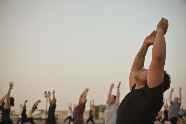 Study Shows How Depression Sufferers Can Improve Symptoms By 50% Instructor Hatha Yoga Yoga Classes Gym Men 1179452