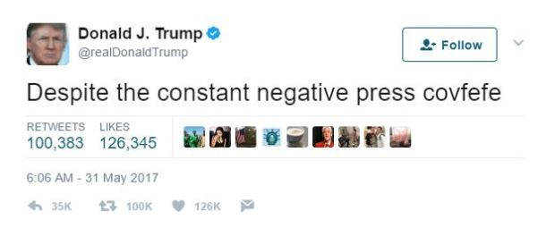 Donald Trump Reveals Nuclear Codes In Weird Late Night Drunk Tweet covfefe