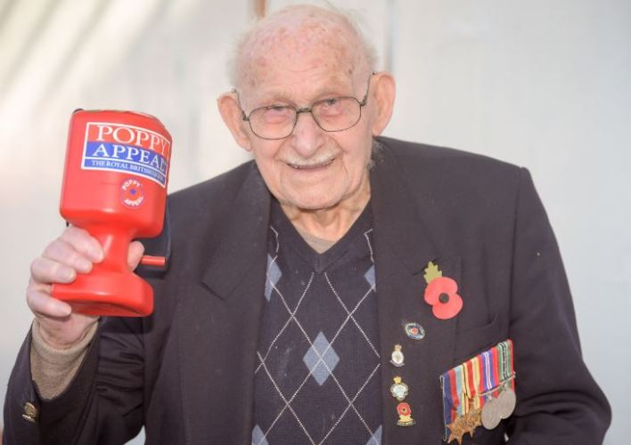 100 Year Old Auschwitz Survivor Still Sells Poppies At His Local Store Capture hyg