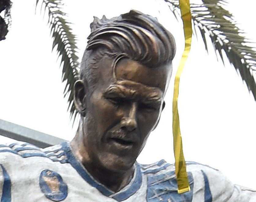 David Beckham Statue Outside LA Galaxy Stadium Looks Like