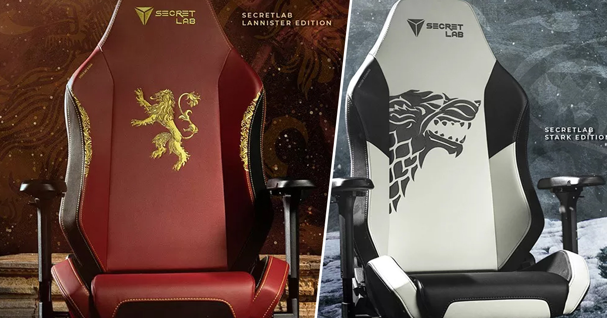 Official Game Of Thrones Gaming Chairs Announced