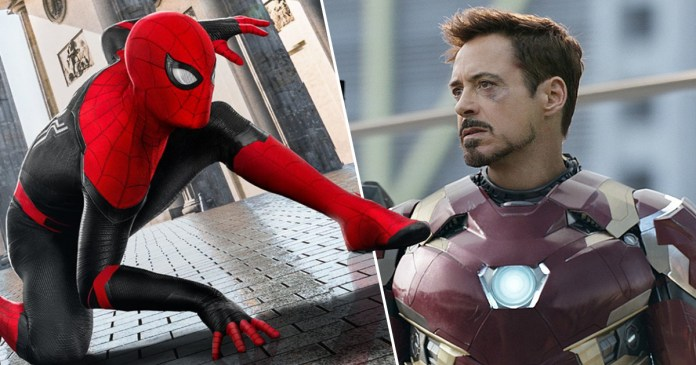 Image result for Downey as friendly neighbourhood Spiderman