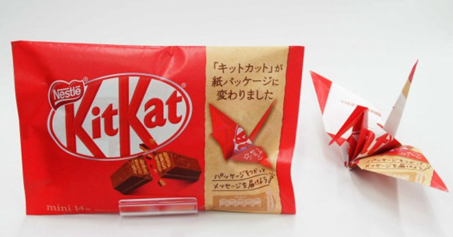 KitKat Is Ditching Plastic Packaging In Japan For Paper You Can Turn Into Origami