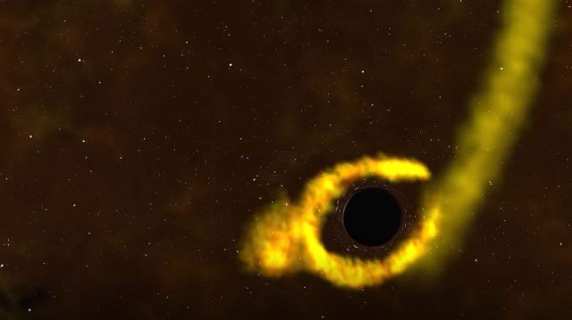 NASA black hole shreds a star