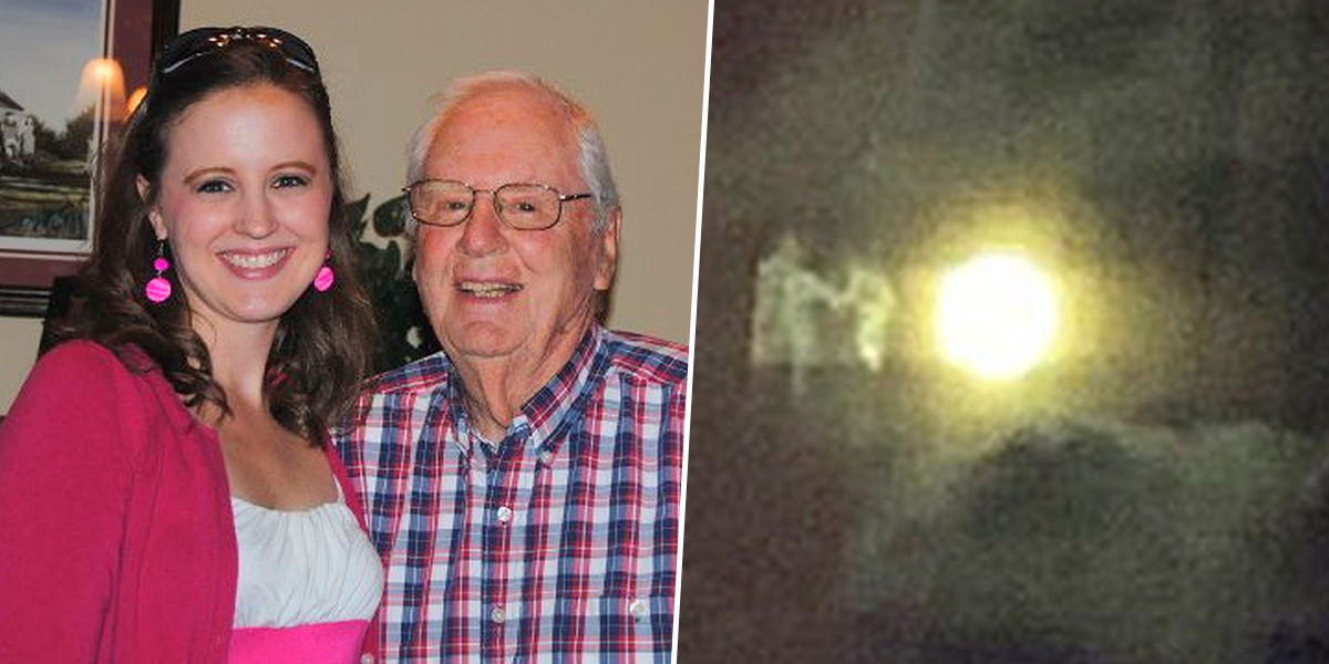 Teacher captures image of 'grandparents welcomed to heaven'