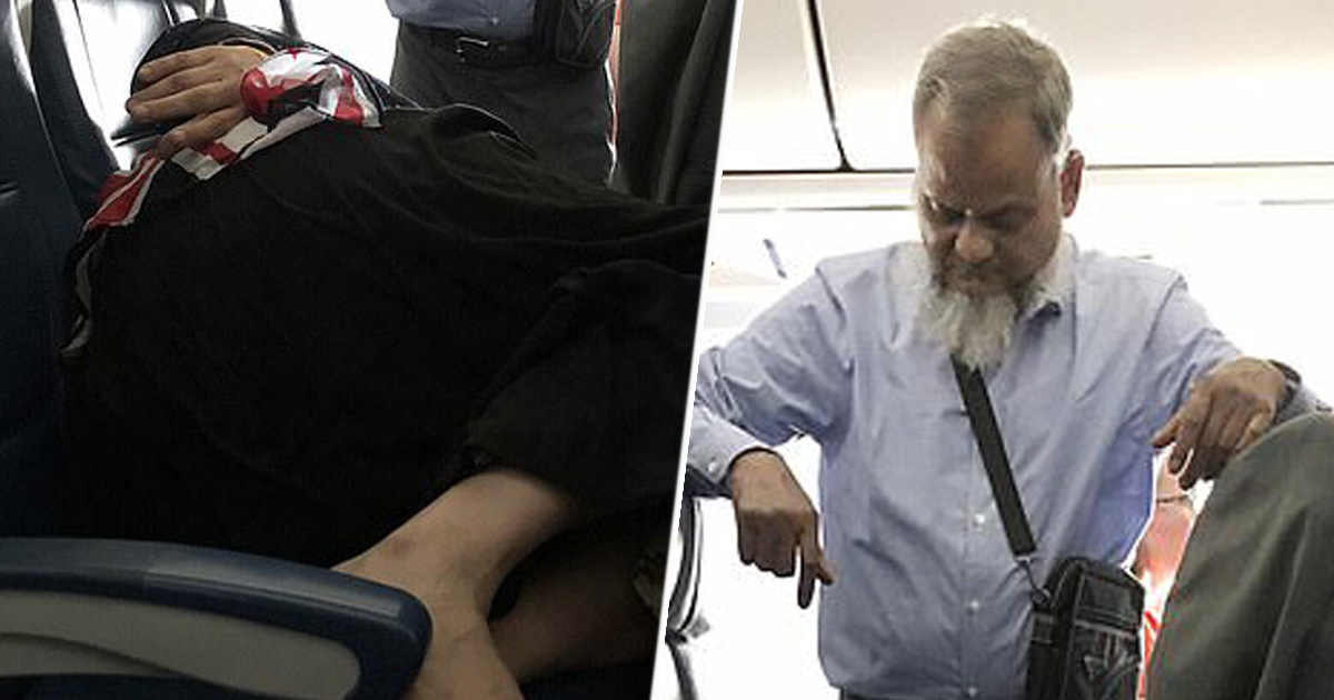 Man Stands For Six Hours On Plane To Let Wife Sleep And People Are Horrified