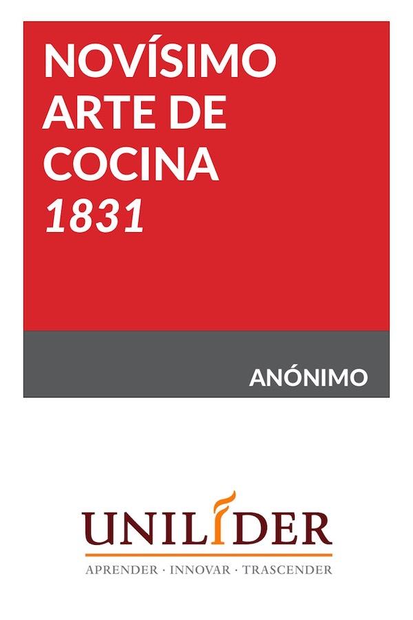 Novísimo Arte De Cocina -1831-