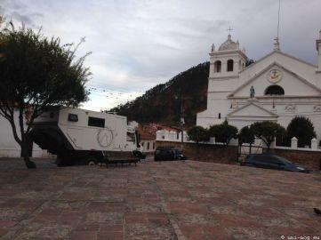 unser Übernachtungsplatz in Sucre